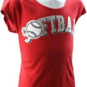 Girls Justice Size 12 Red T-Shirt